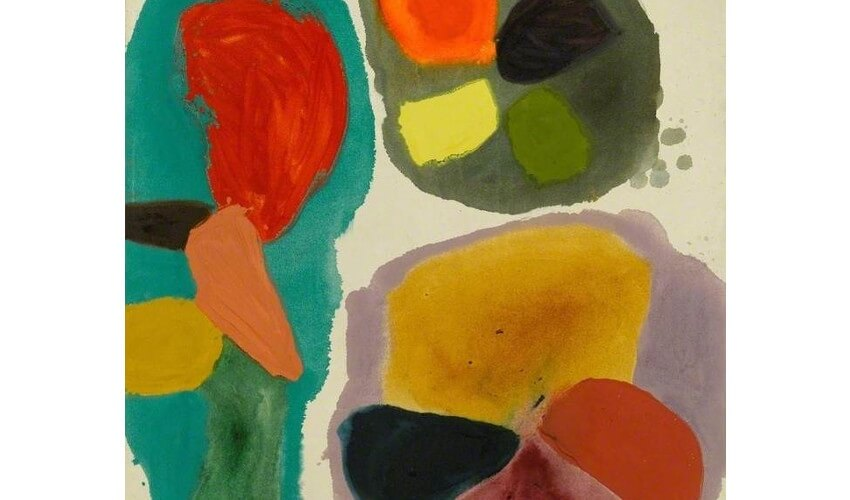 painting by british painter and artist gillian ayres