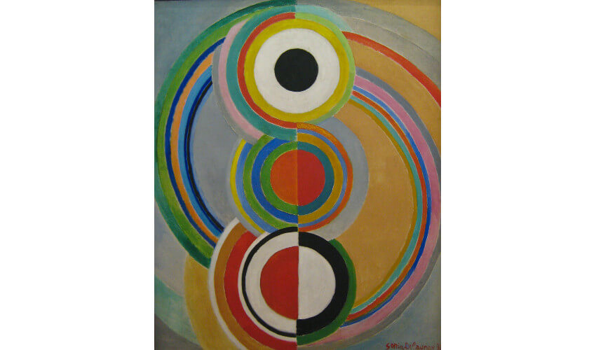 Sonia Delaunay Rythme at National Museum of Modern Art Paris France