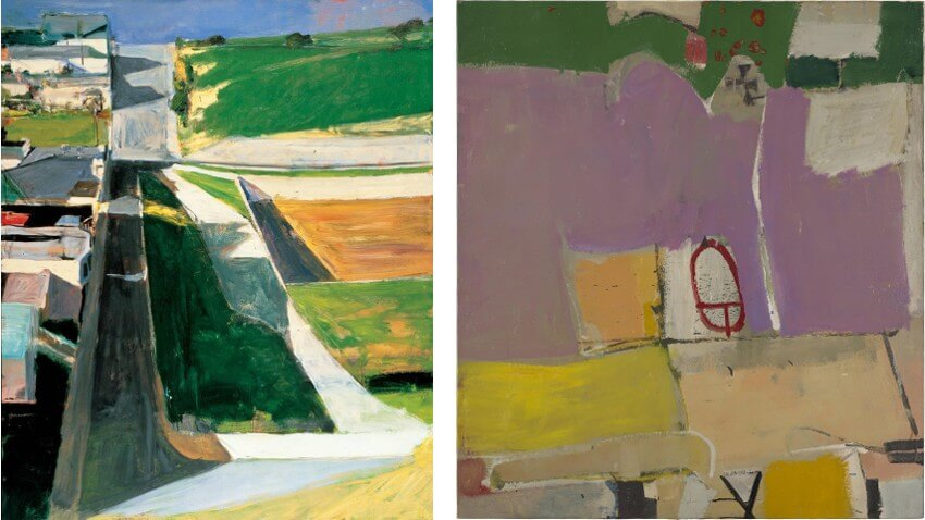 work by american artist richard diebenkorn on view in san francisco and new york