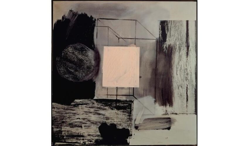 painting by american pop art artist robert rauschenberg