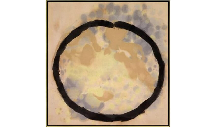 Acrylic on canvas by american artist Kenneth Noland