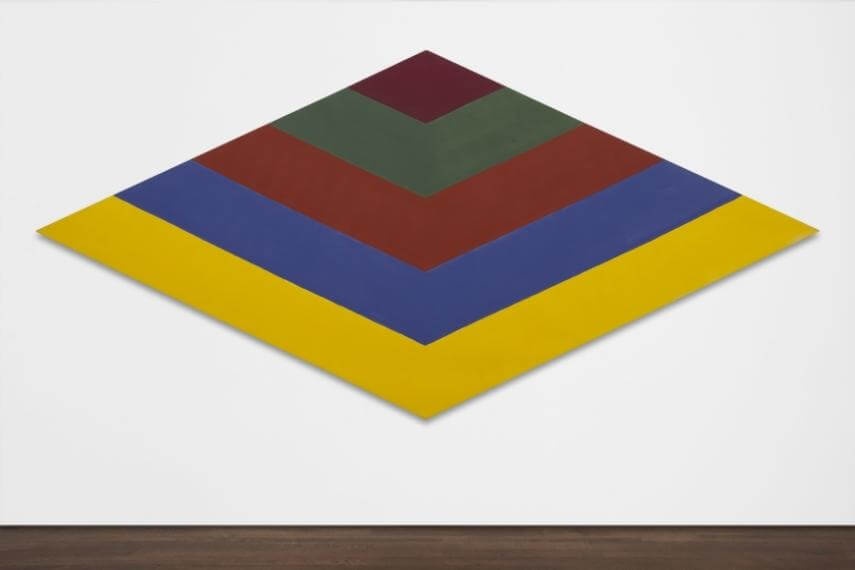 Acrylic resin on canvas by american artist Kenneth Noland