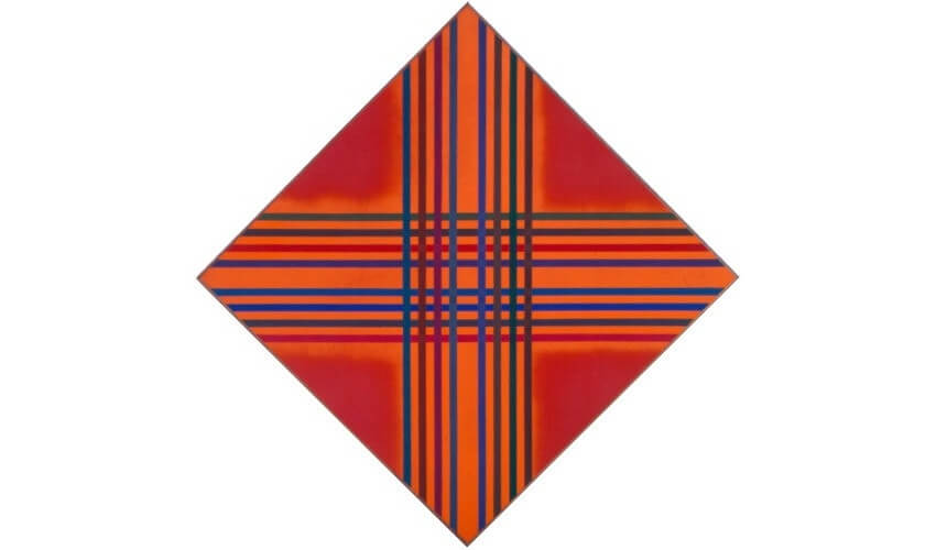 Kenneth Noland Interlock Color Acrylic paint