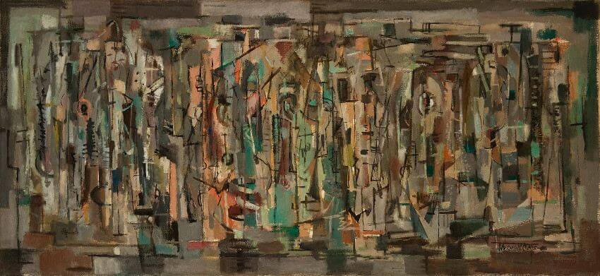 Norman Lewis abstract expressionist painting Crossing