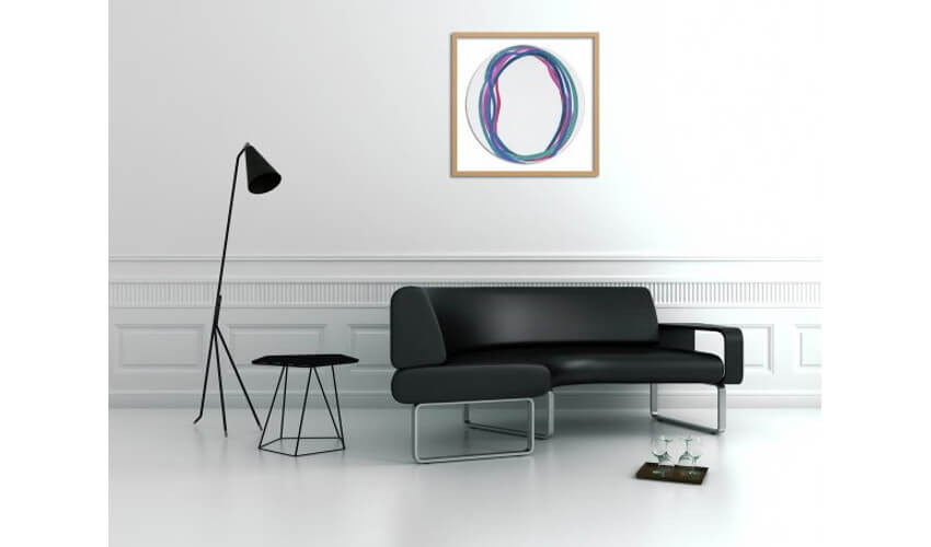 best ways to decorate a small living room with abstarct art