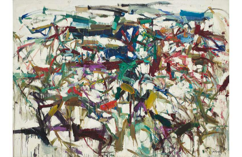 life works and exhibitions of american artist Joan Mitchell
