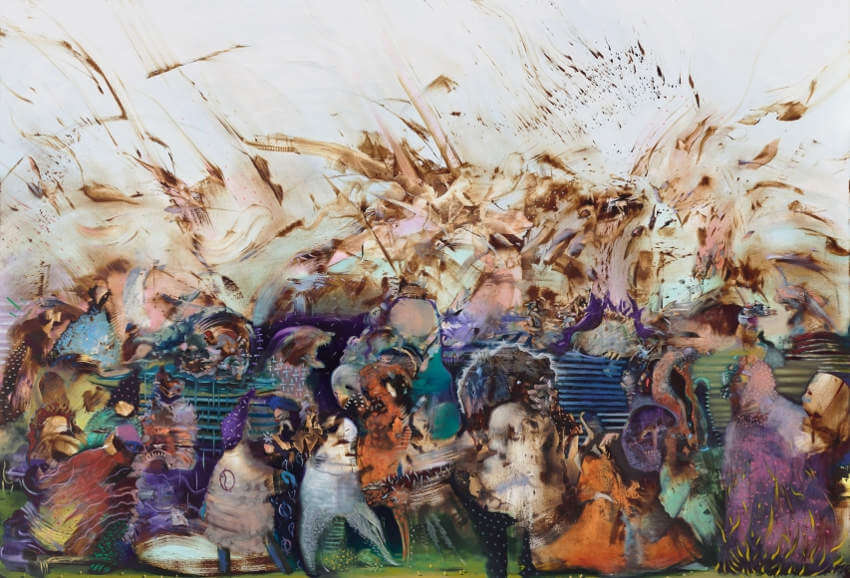 biography and gallery works by iranian artist ali banisadr born in 1976 in tehran