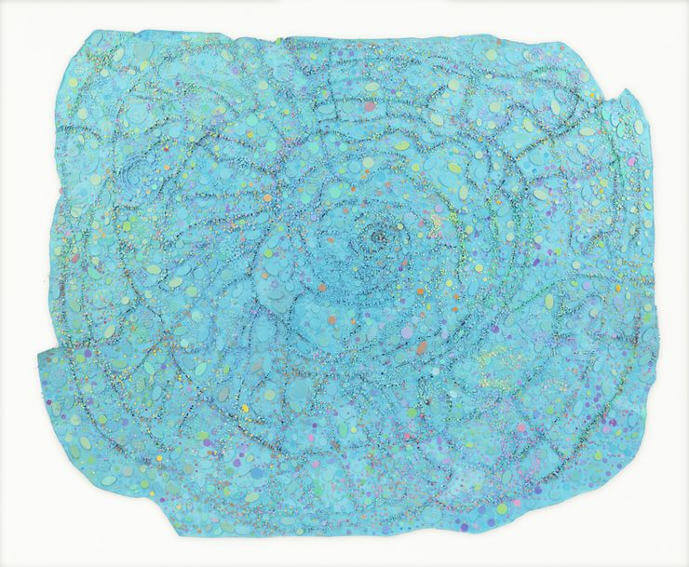 exhibitions of howardena pindell modern painting works on canvas and paper