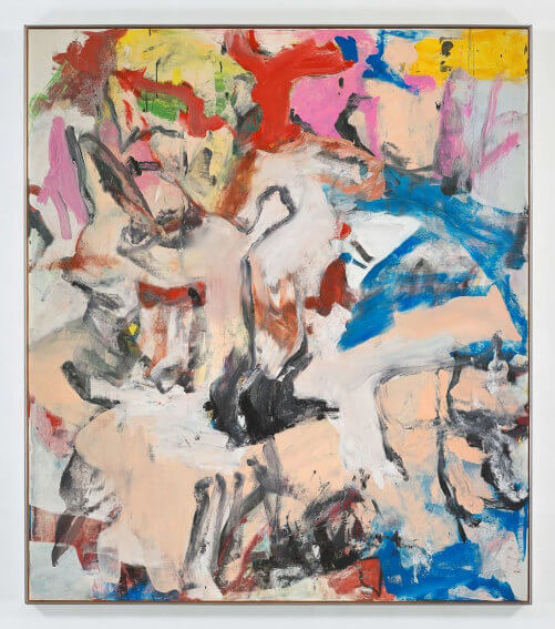 willem de kooning untitled xii oil on canvas exhibitions