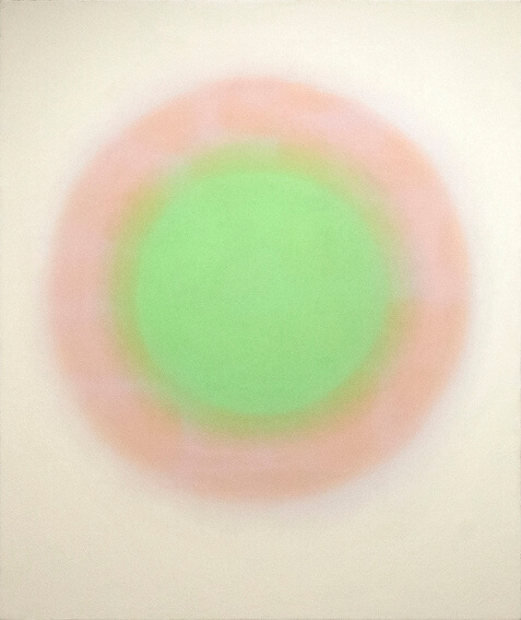 painting by Wojciech Fangor born in 1922 in Warsaw Poland