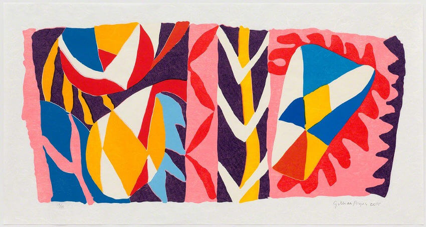 arts by British artist Gillian Ayres who died in april 2018
