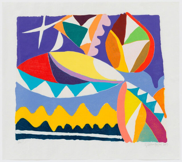 museum exhibitions of arts by Gillian Ayres who died in april 2018