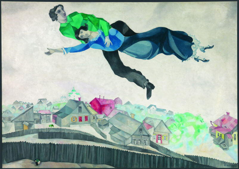 Belarus painter Marc Chagall Over the City