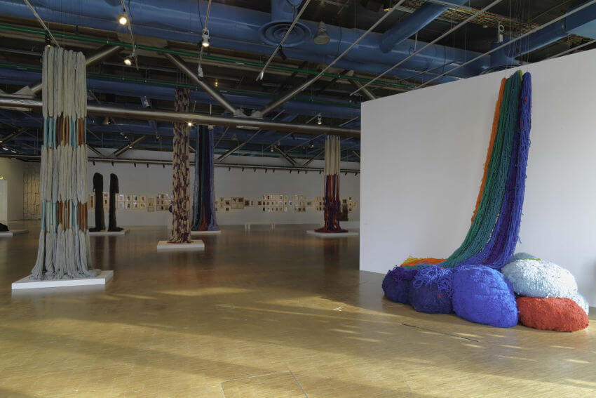 new arts by american artist sheila hicks at museum and gallery paris france
