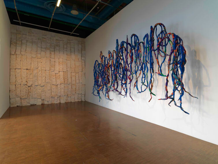 new arts by american artist sheila hicks exhibition in museum and gallery paris france