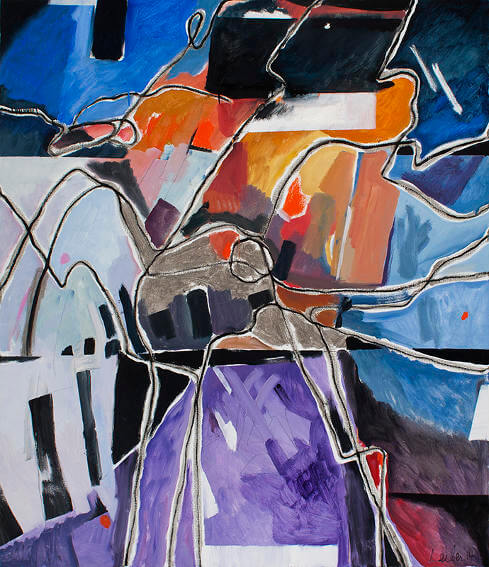 painting by brooklyn born artist gerson leiber long island studio