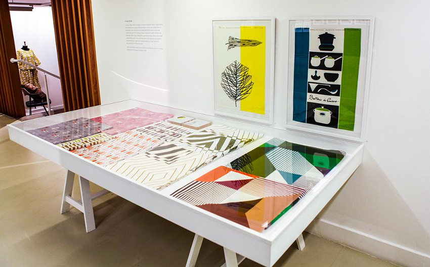 Calyx fabric by designer and artist Lucienne Day at London festival
