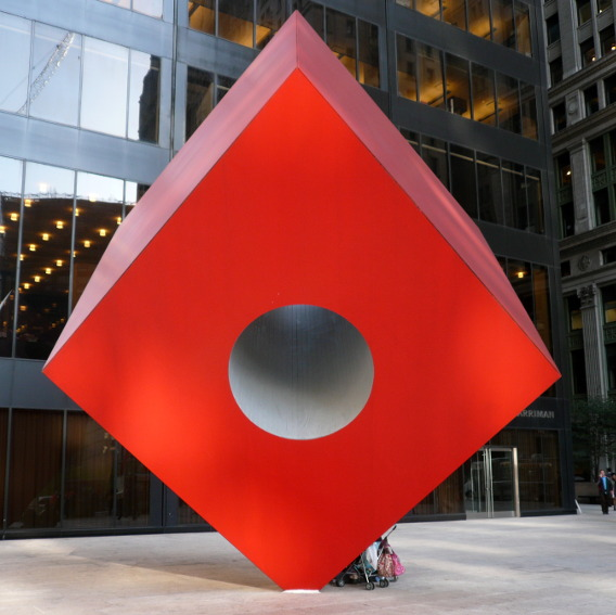 Isamu Noguchi Red Cube