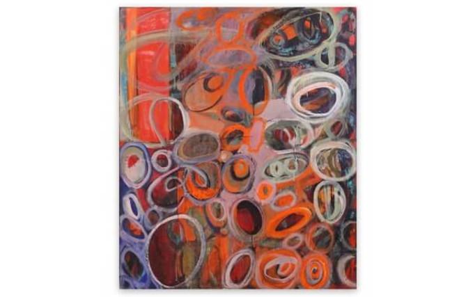 Deanna Sirlin mixed media on canvas