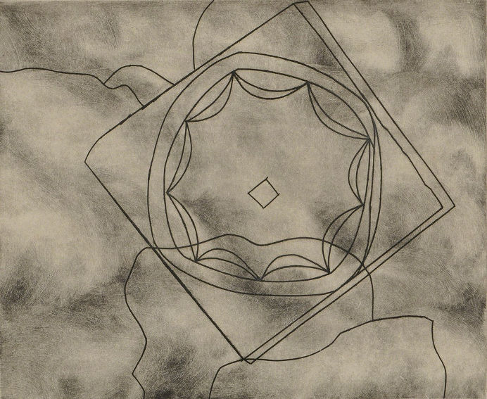 Olympic Fragment by British abstract painter Ben Nicholson