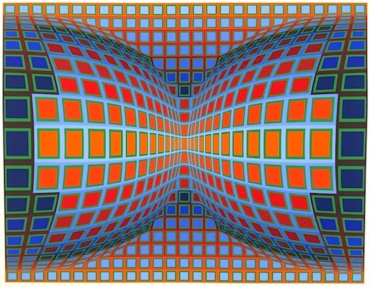 Papillon by Victor Vasarely who died in 1997 in Paris
