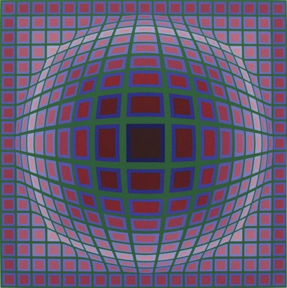 Hungarian French artist Victor Vasarely died in 1997 in Paris