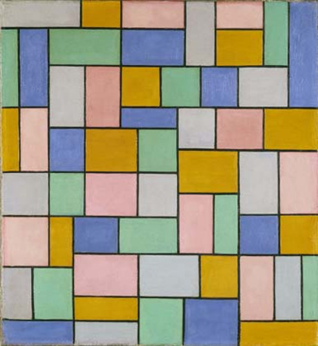 Theo van Doesburg Composition in dissonances Oil on canvas