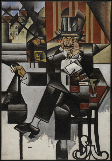Juan Gris Man in a Cafe