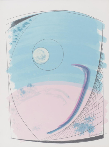 Dame Barbara Hepworth Winter Solstice screenprint