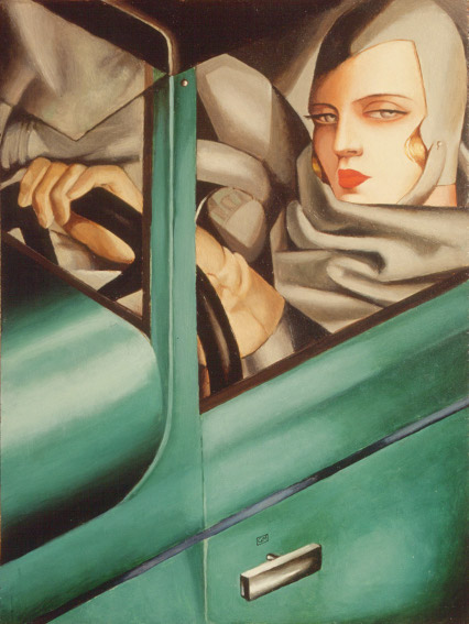Tamara de Lempicka Self-Portrait in the Green Bugatti painting