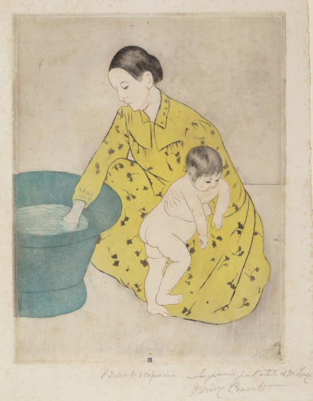 Mary Cassatt The Bath painting
