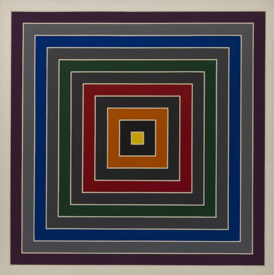 Frank Stella Gray Scramble painting