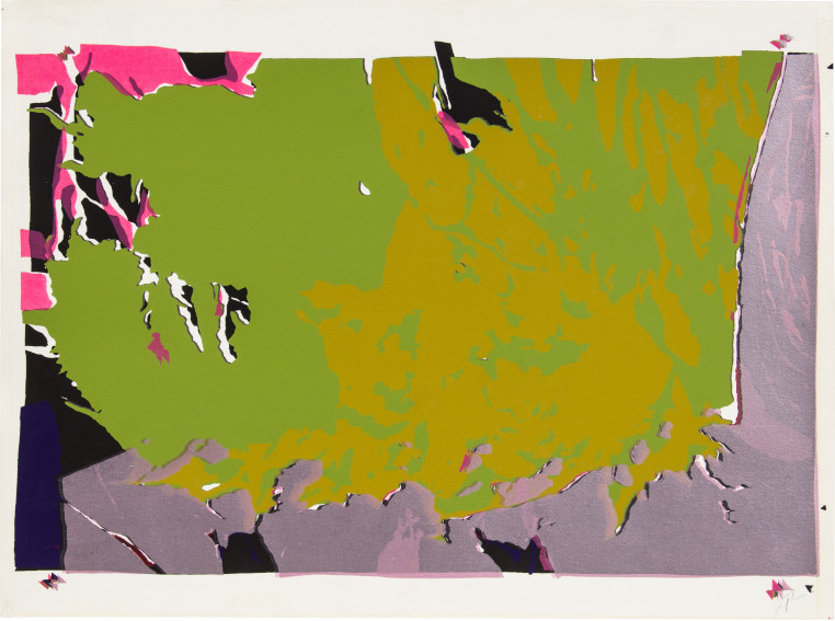 Larry Poons Untitled 1971 screenprint