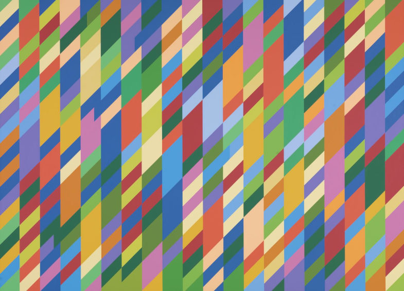 Bridget Riley Nataraja painting