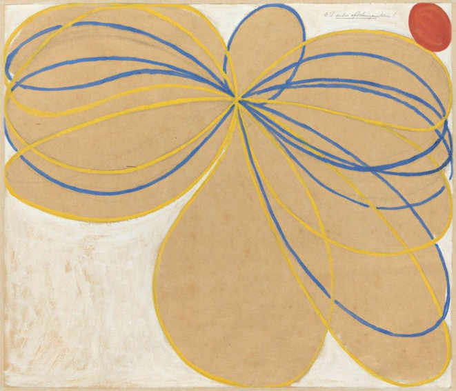 Hilma af Klint Group V, The Seven-Pointed Star, No. 1n painting