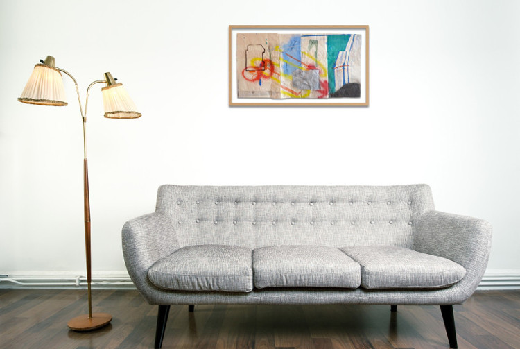 decorate a small living room with abstract art