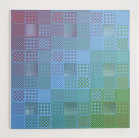 Sanford Wurmfeld II-25 (Blue DK-N) painting