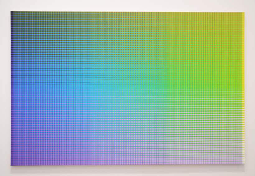 Sanford Wurmfeld II - 18 + B:2 (YGY-VBV:Ys + Vt) painting