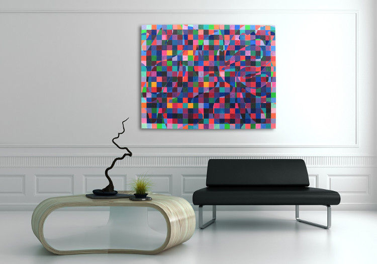 decorate your living room with abstract art by IdeelArt artists