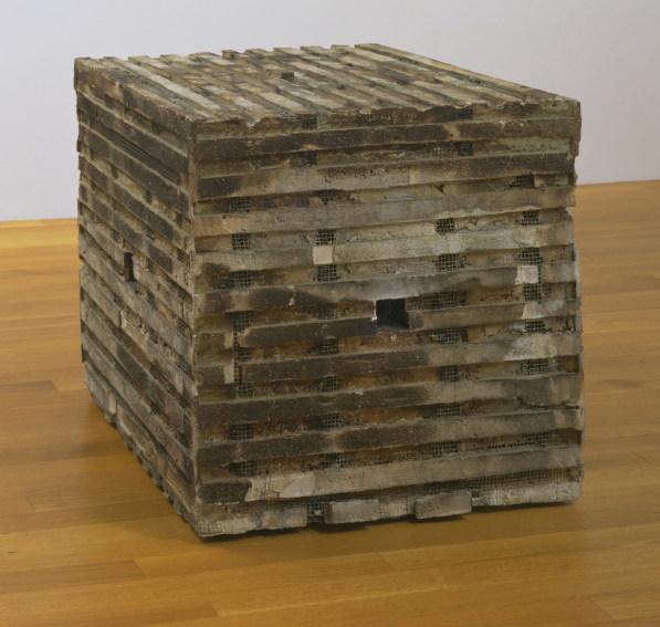 Jackie Winsor Burnt Piece sculpture