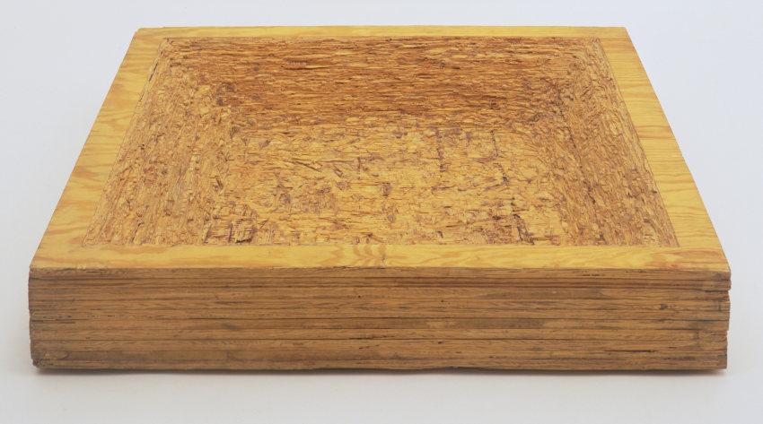 Jackie Winsor Laminated Plywood sculpture
