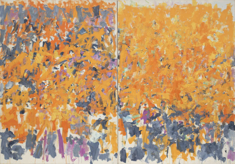 Wood, Wind, No Tuba painting by American artist Joan Mitchell