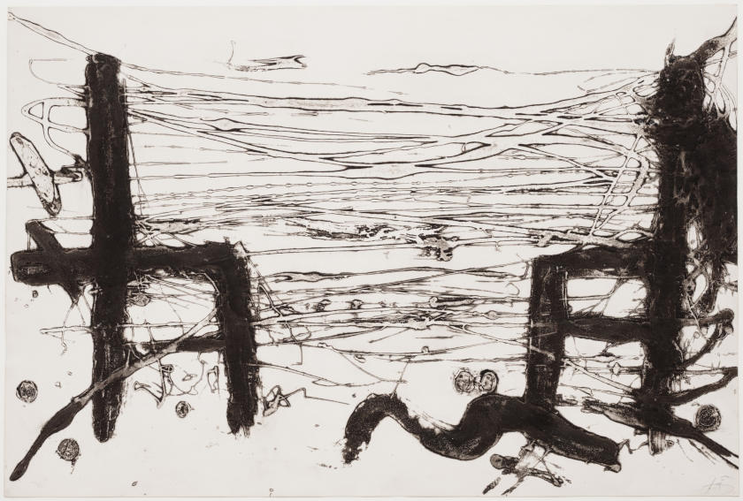 Antoni Tapies Chaises (Chairs) painting