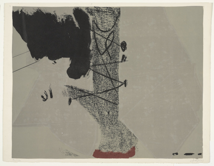 Antoni Tapies Saint Gall painting