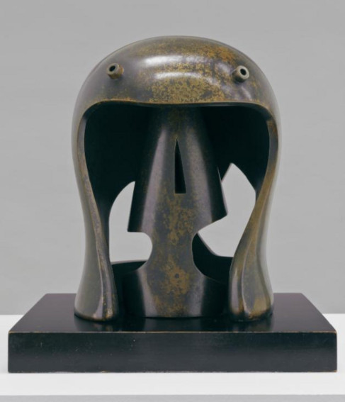 Henry Moore Helmet Head No.1 sculpture
