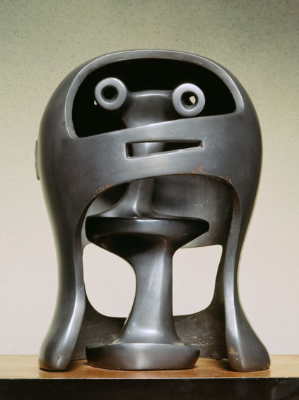 Henry Moore Helmet Head No.2 sculpture