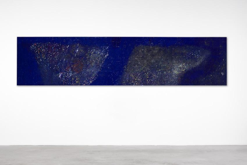 Pier Paolo Calzolari Monocromo blu painting
