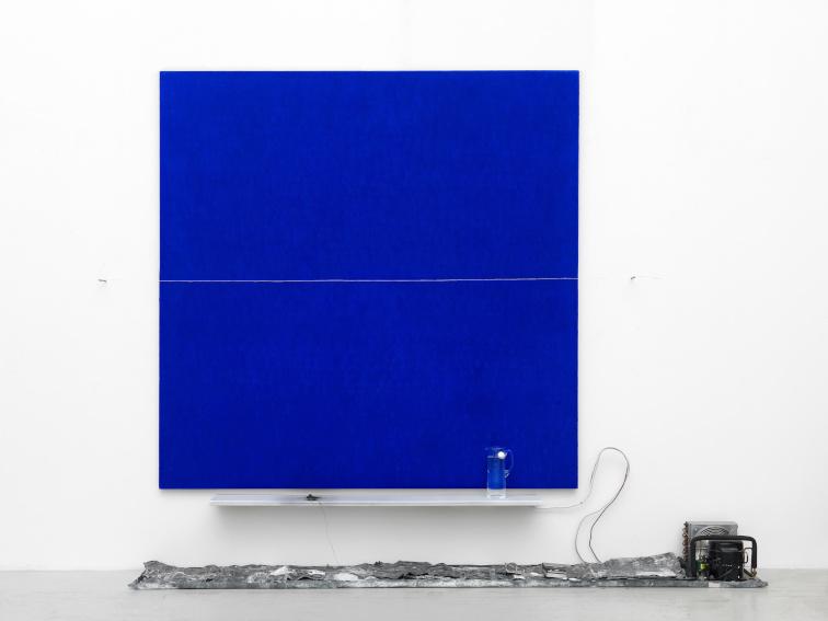 Pier Paolo Calzolari Senza titolo (Lasciare il posto) painting