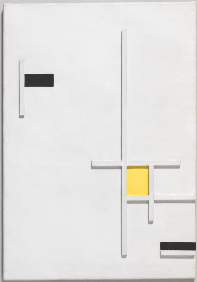 Marlow Moss Composition in Yellow, Black and White painting