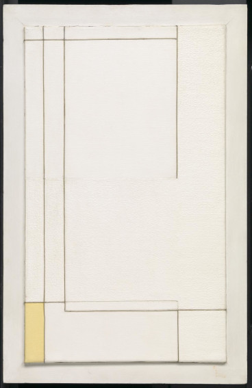 Marlow Moss White and Yellow painting